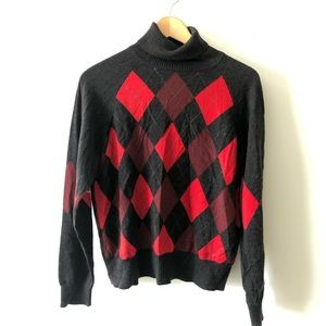 Pendleton Vintage Argyle Sweater Large